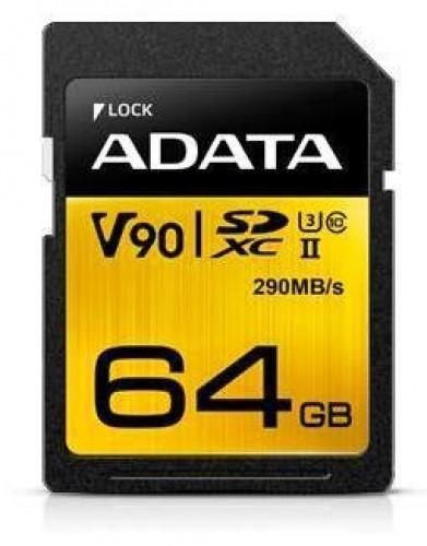Adata SDXC UHS-II 64GB flashgeheugen