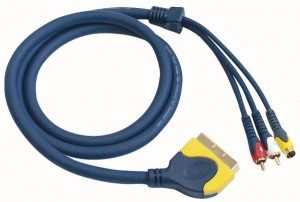 Scart to 2 RCA Male